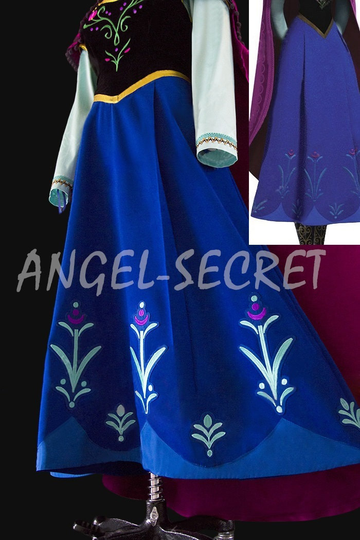 787.3 small  sc 1 st  Storenvy & J787 [Adult] Movies Frozen princess ANNA Cosplay Costume Deluxe ...