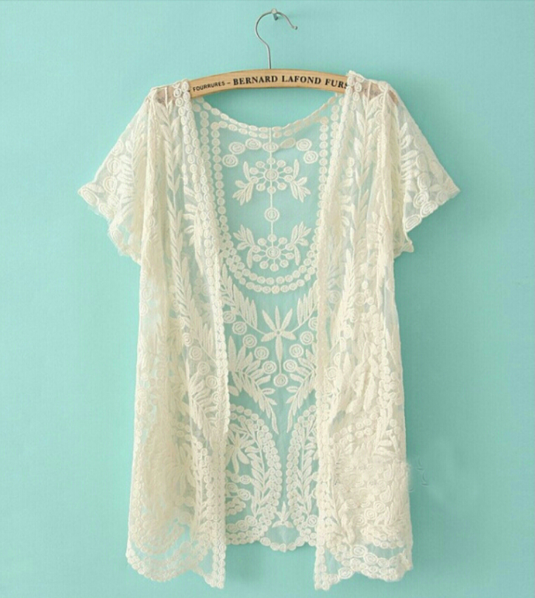 Boho Crochet Lace Kimono on Storenvy