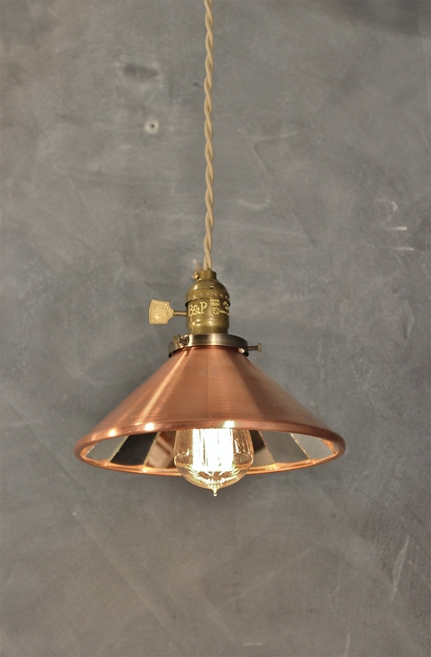 Industrial Pendant Lamp W Cone Mirror Reflector Shade