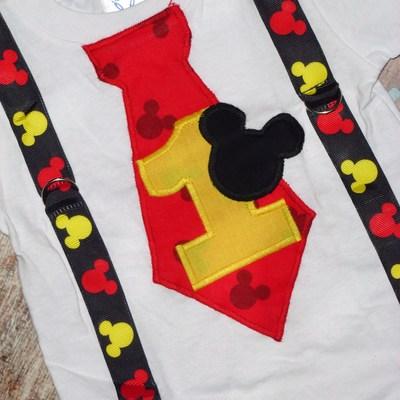 Boys First Birthday T Shirt Mickey Mouse Tshirt