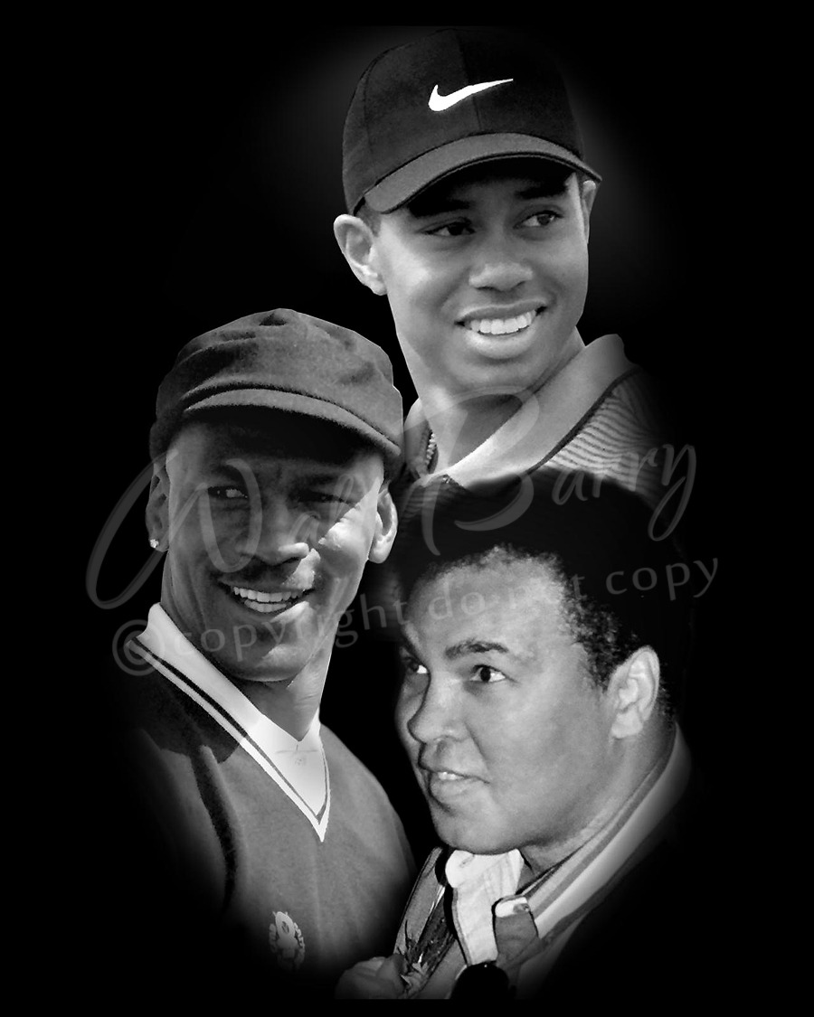 57c9302662e25 Tiger Woods, Muhammad Ali, Michael Jordan Collage from waltbarry.com