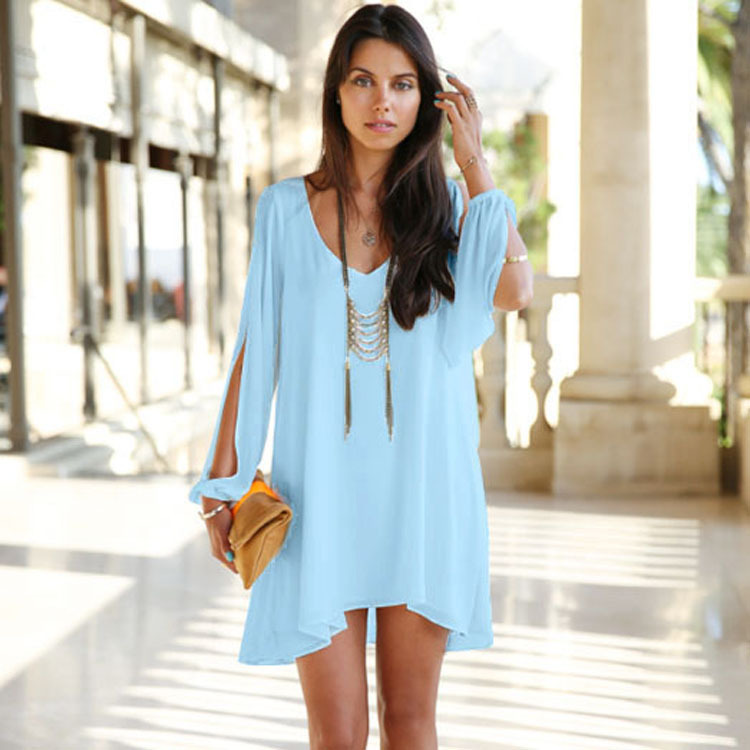 33f41f58ac Sky Blue New Fashion Women Summer Dress 2014 Hot Selling Casual ...