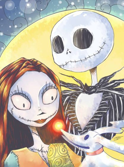 Jack And Sally Portrait On Storenvy