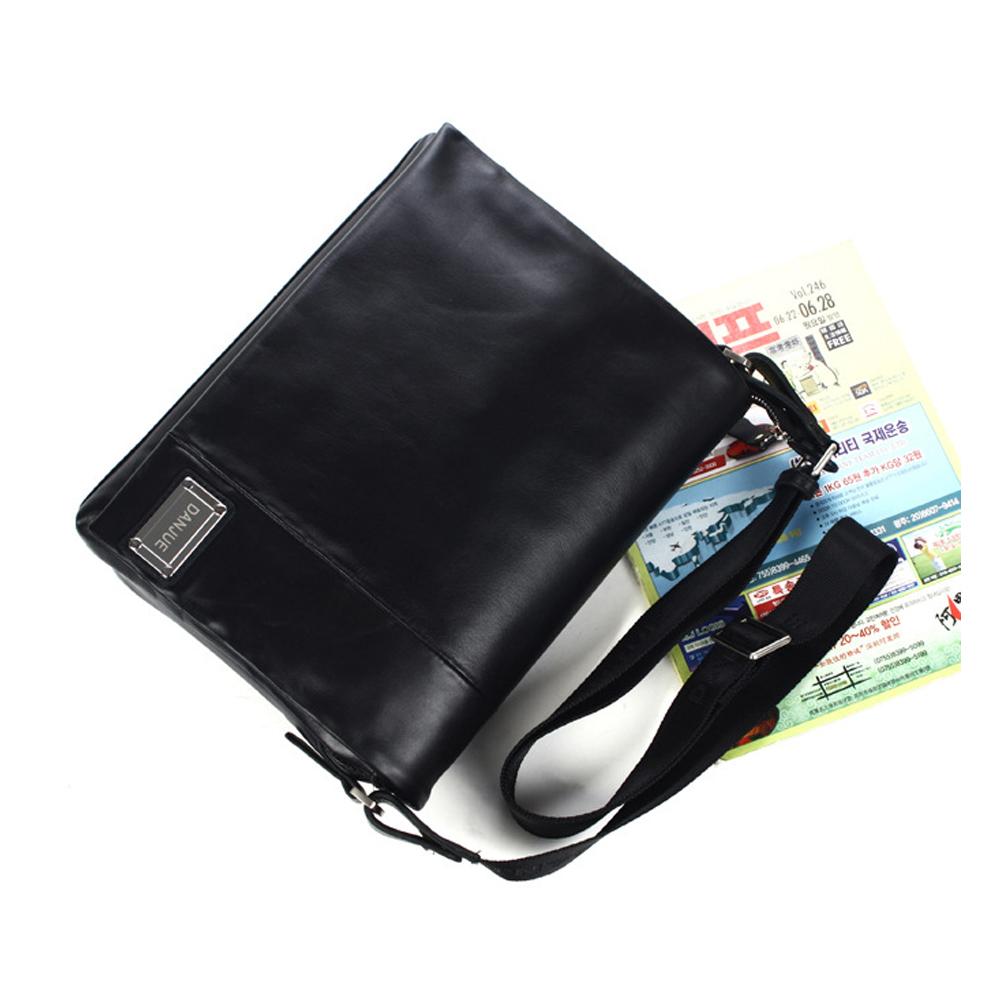 fbd0711829b6 ... Men s Cowhide Leather Flapover Workbag City Courier Bag Messenger  Crossbody Bag 12