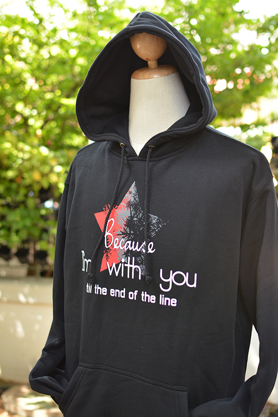 579d50c1 Because I'm with you till the end of the line with star hoodie sweatshirt