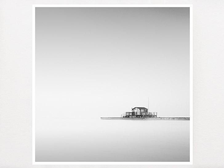 Minimalist black and white photograph lake photograph zen wall art minimalist decor