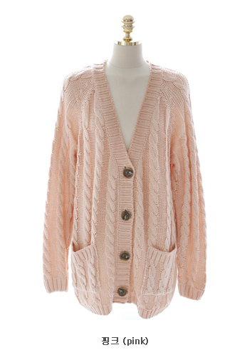 Pastel Pink Cardigan Sweater Baggage Clothing