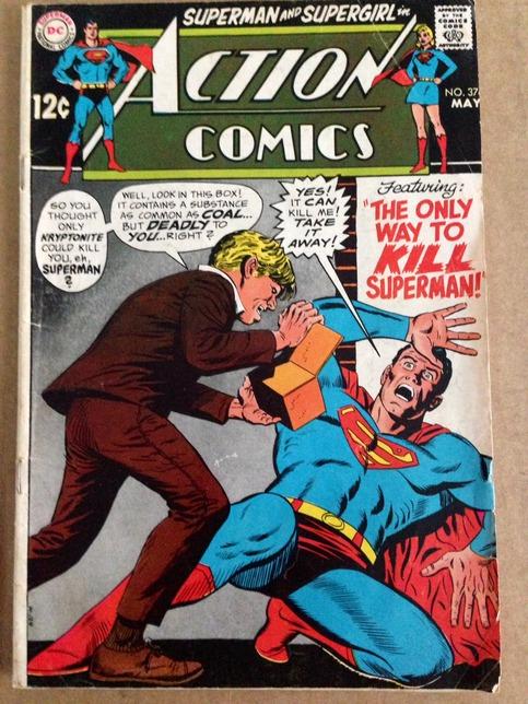 Dc Action Comics Superman And Supergirl No 376 May 1969