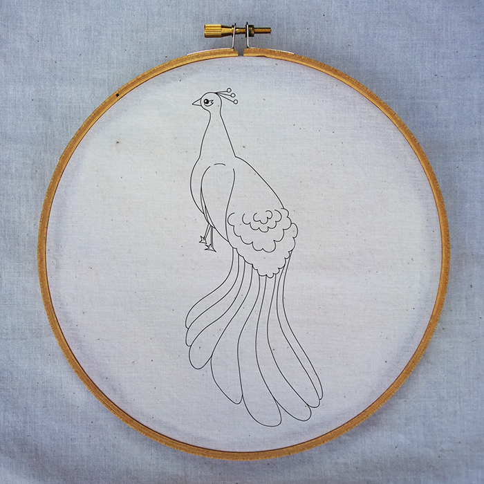 Peacock Sampler Modern Hand Embroidery Pattern On Storenvy