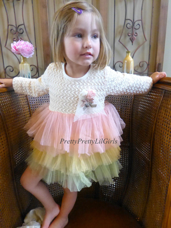 Girls Dress Princess Little Birthday Tulle