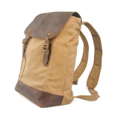 207ea3267570 Karitco Leather Canvas Messenger Laptop Backpack Satchel Backpack School  Rucksack Travel Backpack 5 Colors