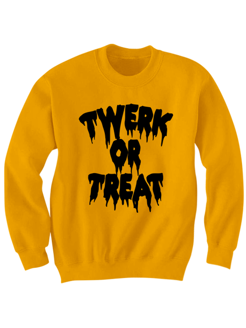 Twerk Or Treat Sweatshirt Halloween Costumes Twerk Shirt