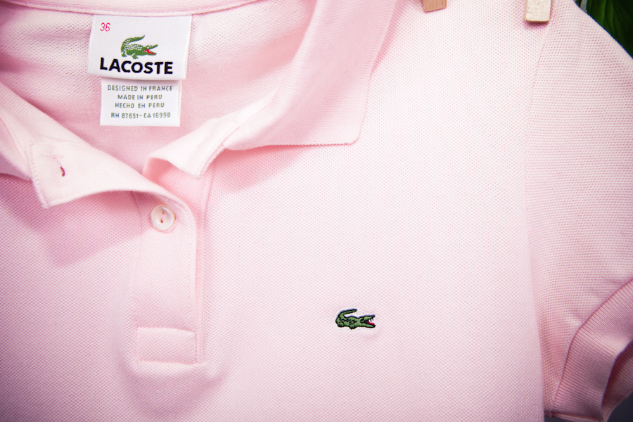 c5f0df281 Light pink Lacoste polo shirt on Storenvy