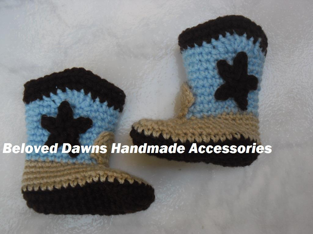 Beloved Dawn Crochet Cowboy Boots Choose Your Own Colors