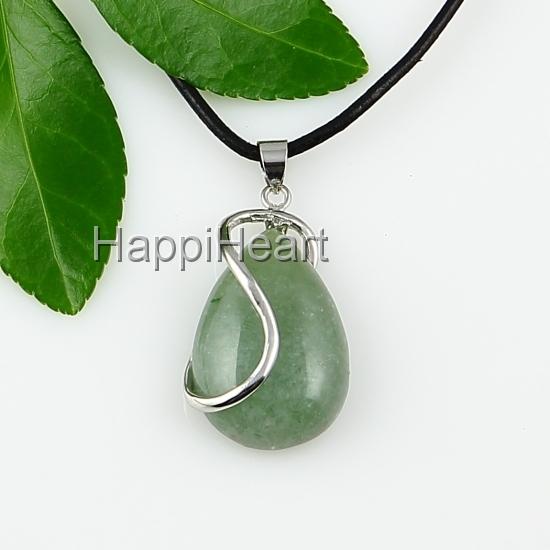 de27ec167007cd Teardrop Jade Pendant Swirl Necklace on Storenvy