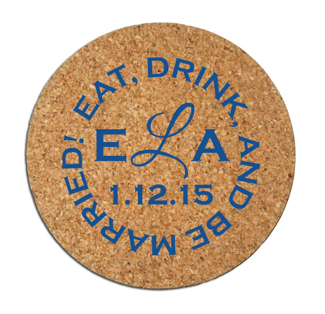 Wedding Favors Coaster.200 Cork Drink Coasters Personalized Wedding Favors From Factory 21