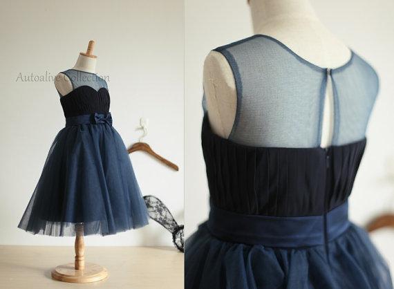 Navy Blue Flower Girl Dress Toddler Dress On Storenvy
