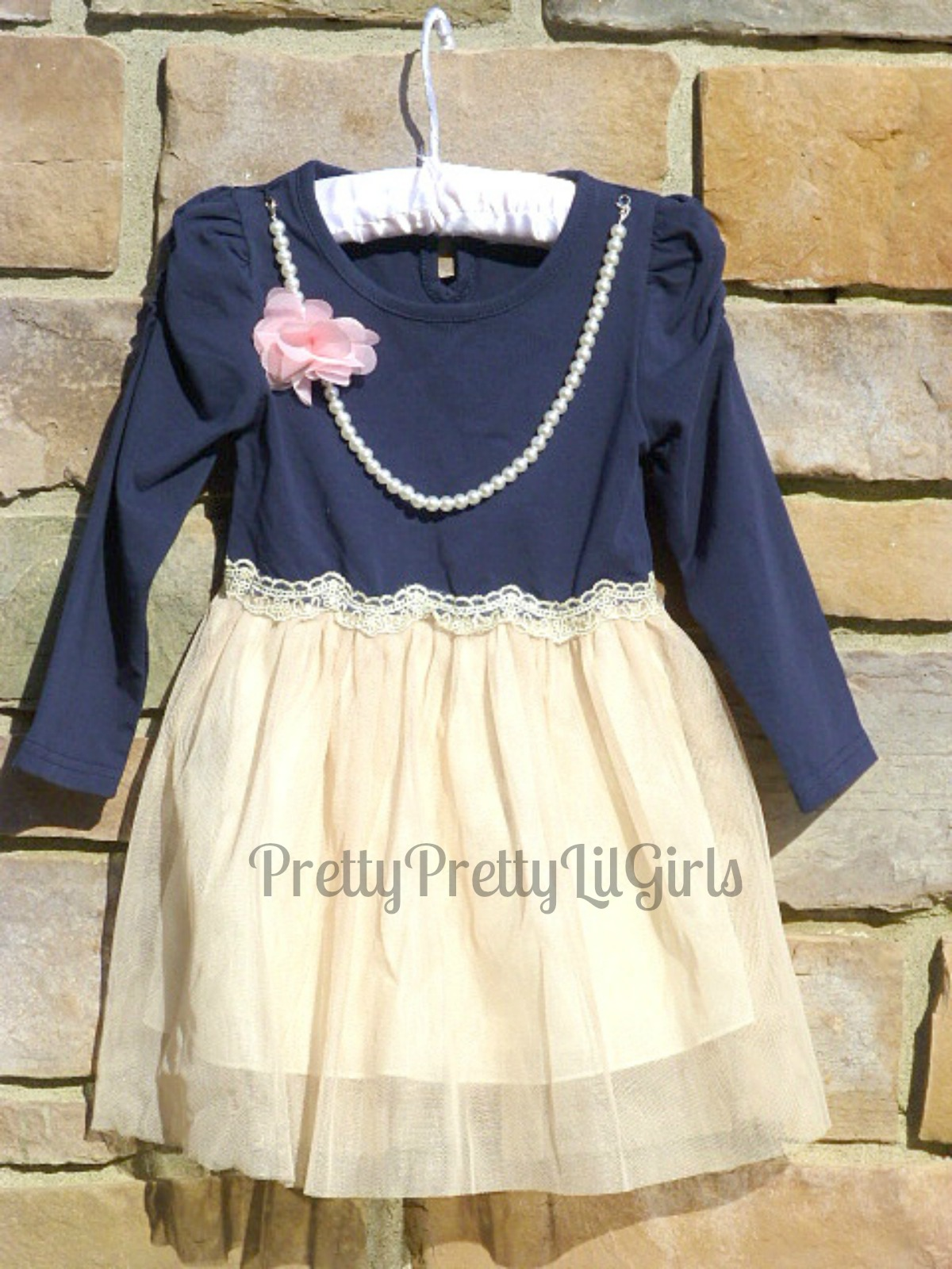 5fc6ce2d5 Girls Navy Dress