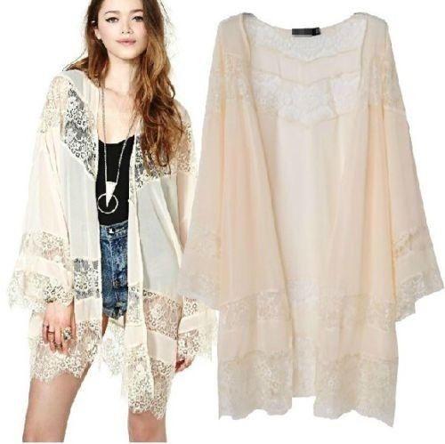 ec929dcce2dab Eyelash Lace Creamy Beige Kimono · Fashion Struck · Online Store ...