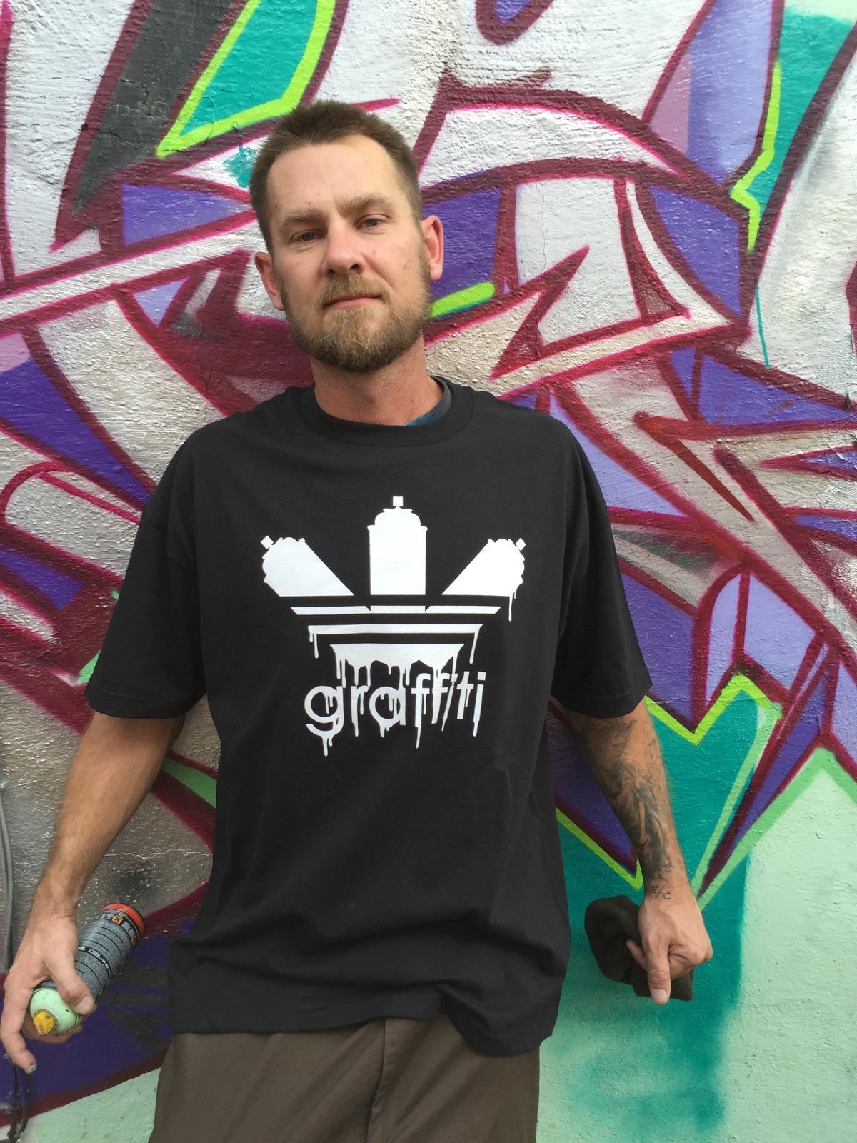 Graffiti Tshirt Custom Graphic Design T Shirt Cotton Emer Black
