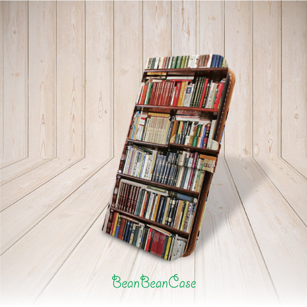 Antique Bookshelf Bookcase Cover Flip Pu Leather Case For IPhone 7 Plus