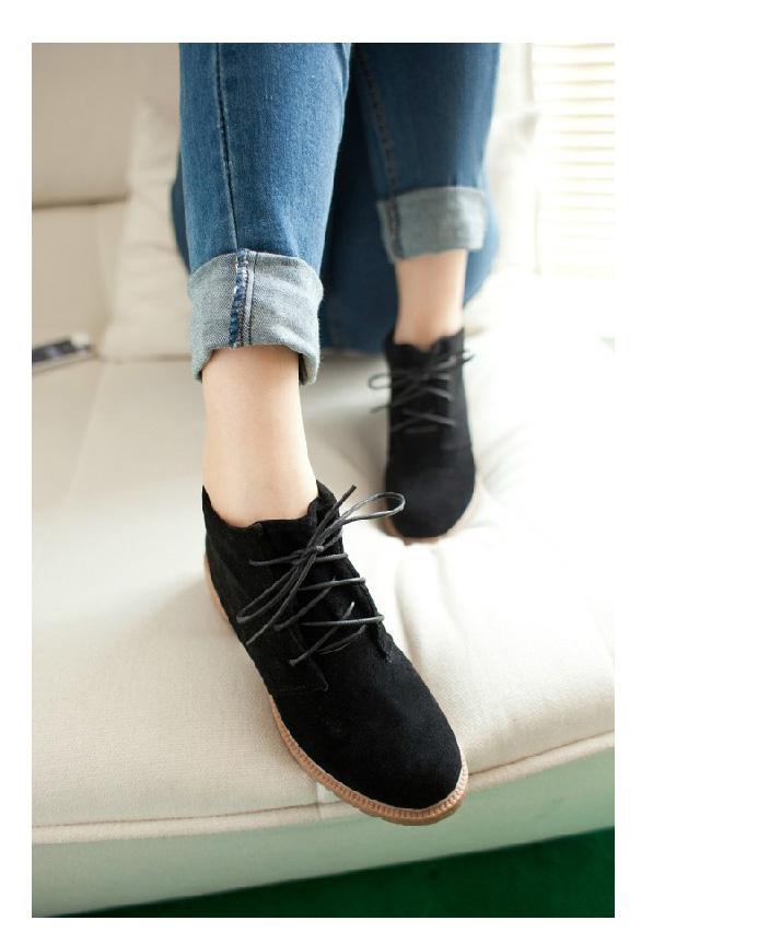 Black vintage casual shoes women