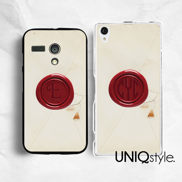 hot sale online c0b33 7a720 Seal stamp personalized custom monogram phone case for iPhone 7/6/6s plus,  Samsung S8/S7/S6 edge, Sony Z5, LG g5 g6, Nokia Lumia 520, HTC One M9,