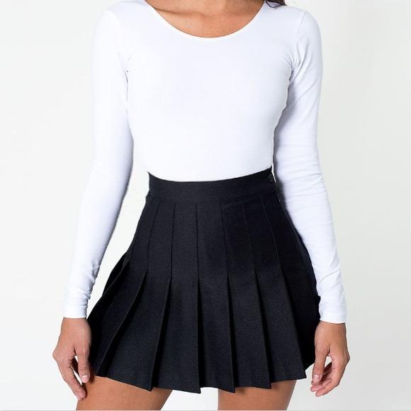 Black Pleated Tennis/School Skirt on Storenvy