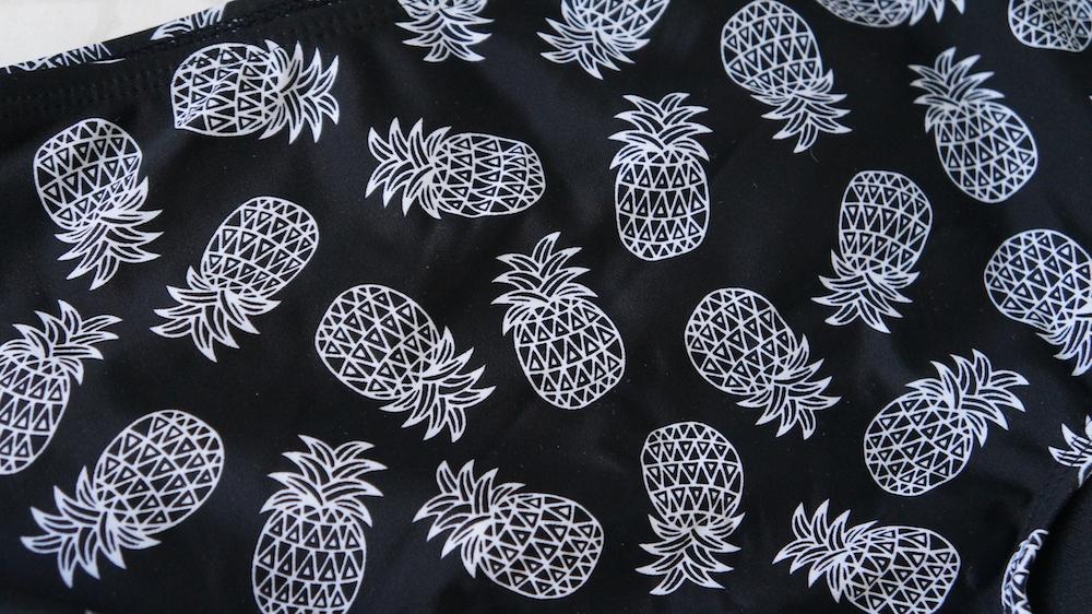 Cotton On Body Black White Pineapple Print Bathing Swim ...