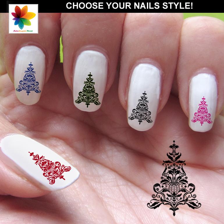 Christmas Tree Nail Art Cartoon Nail Art 80 Waterslide Stickers