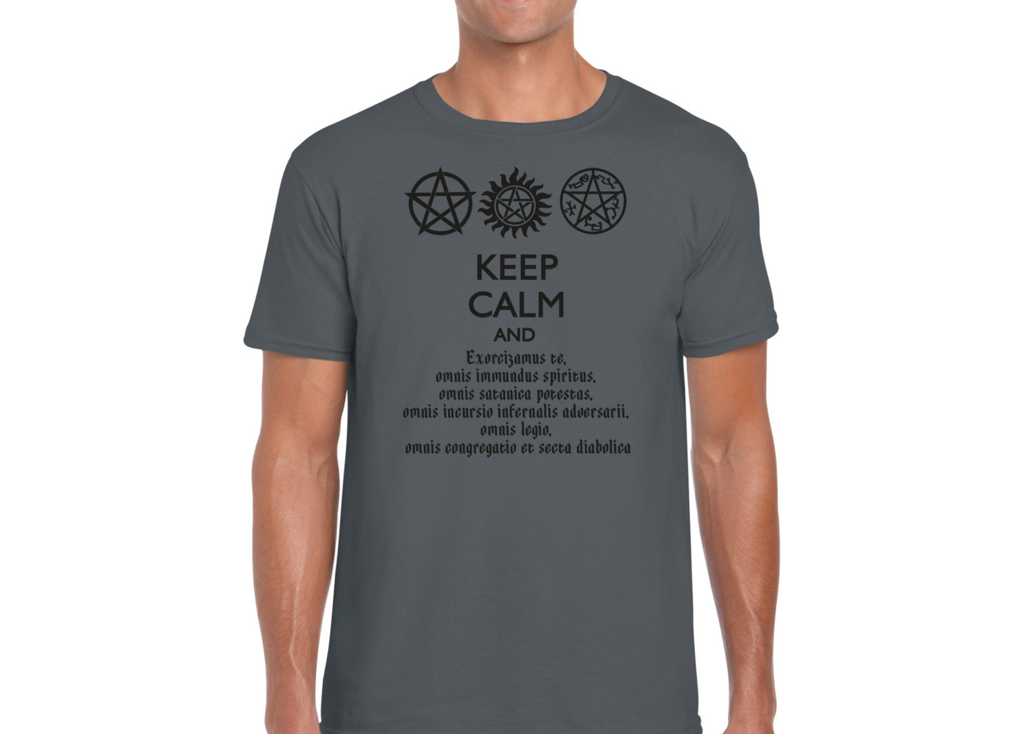 SUPERNATURAL KEEP CALM And Speak Latin Men's Fitted T-Shirt Dean Winchester  Sam Winchester from This Charming Fan