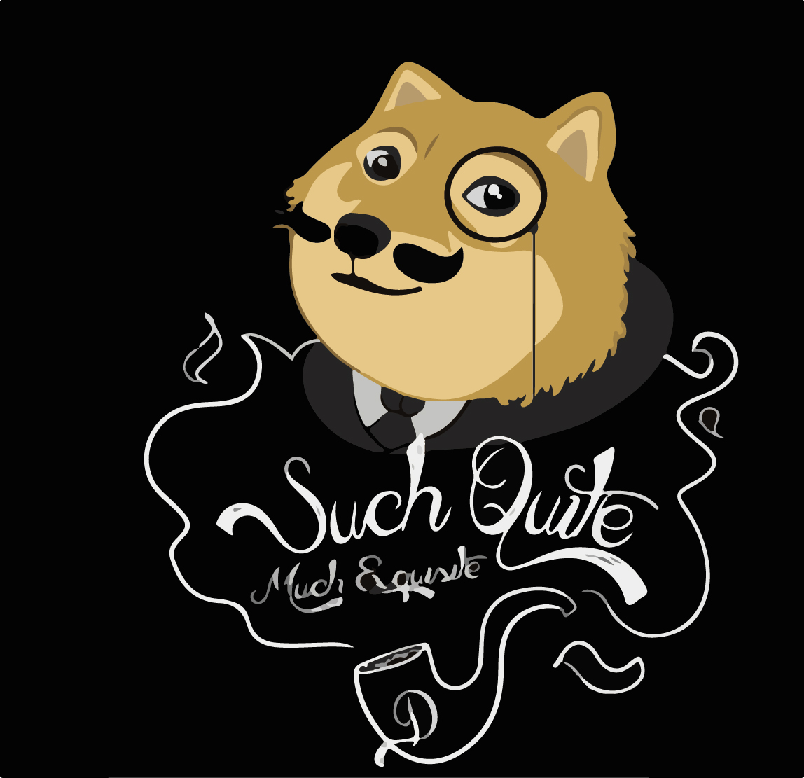 Doge digital download poster print from DeePeeIllustrations