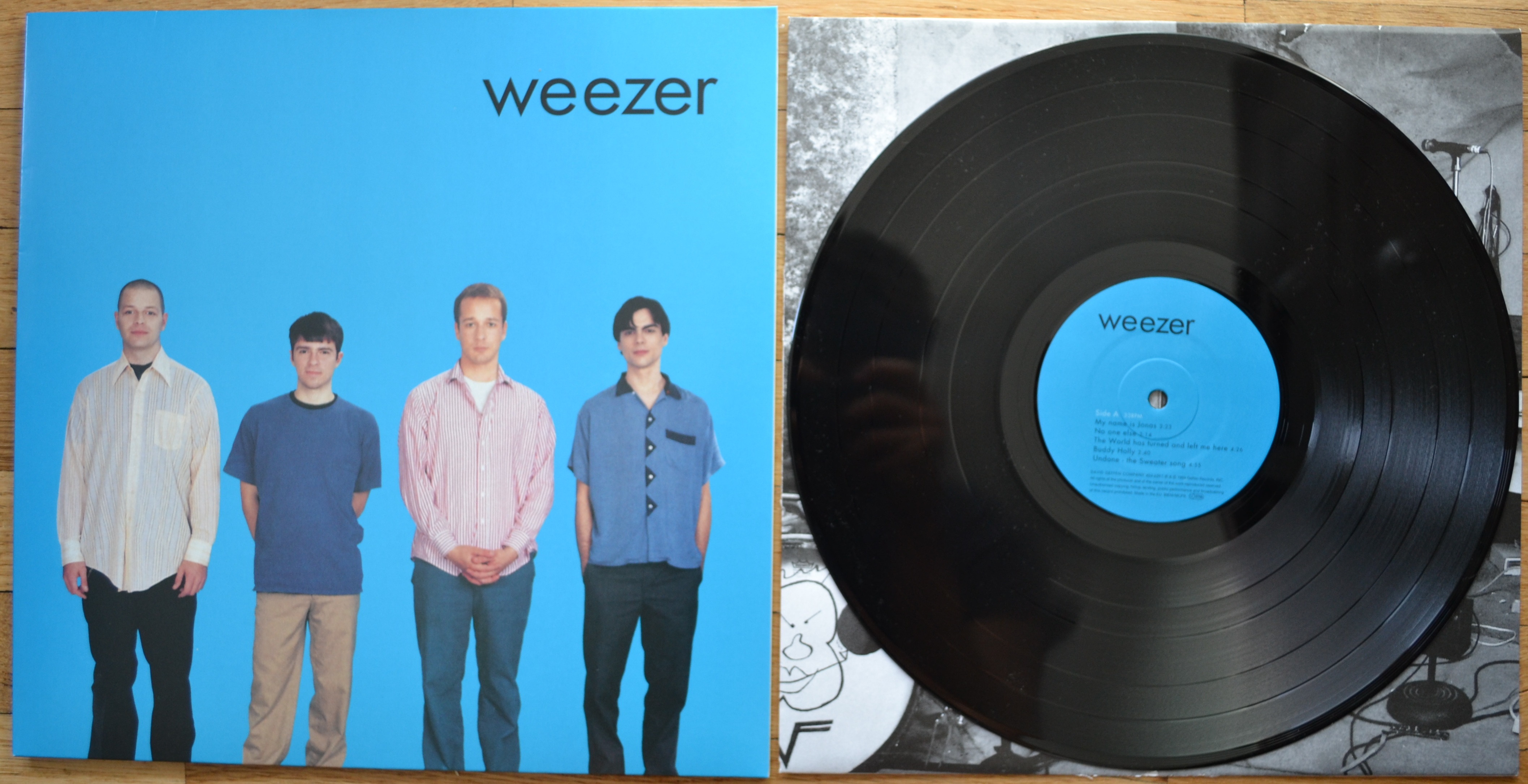 Weezer Blue Vinyl Shoes