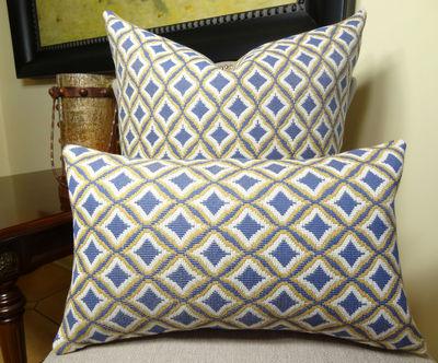 12 Quot X 20 Quot Decorative Lumbar Throw Pillow Blue Yellow