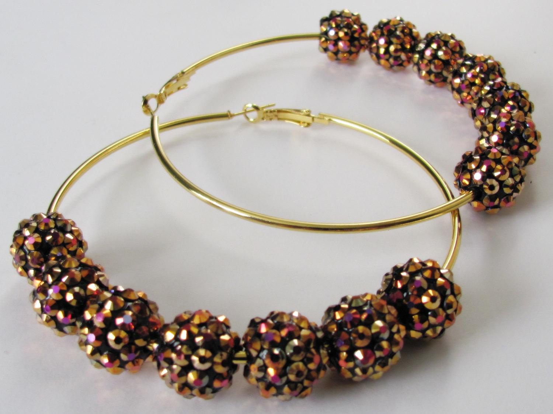 Basketball Wives Earrings Rhinestone Earrings Women Jewelry Gift Rhinestone  Hoops Gold Hoops Poparazzi Earrings Beaded Hoops b6a7e0ccaa