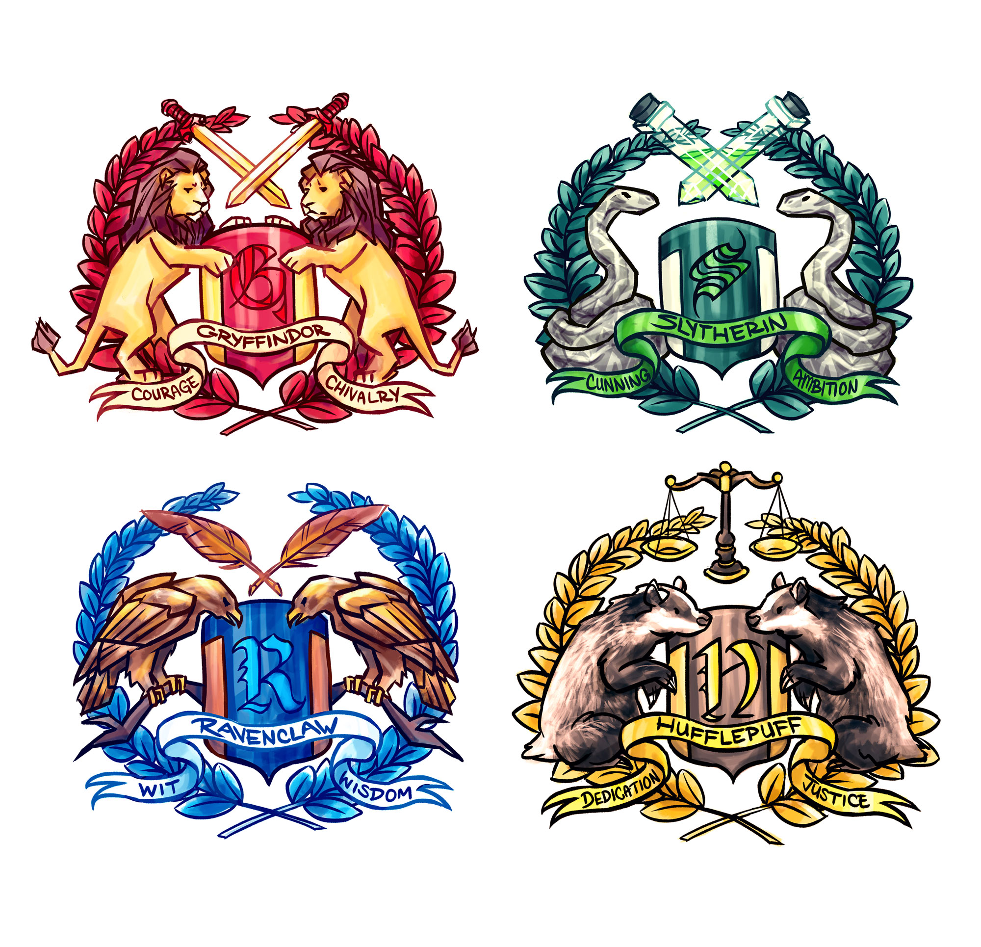 hogwarts house stickers on storenvy. Black Bedroom Furniture Sets. Home Design Ideas