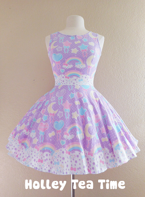 Pastel Party Lavender Skater Dress Made To Order 183 Holley