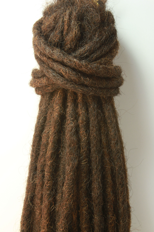 10 X Dark Brown Human Hair Dreadlock Extensions Best Quality On