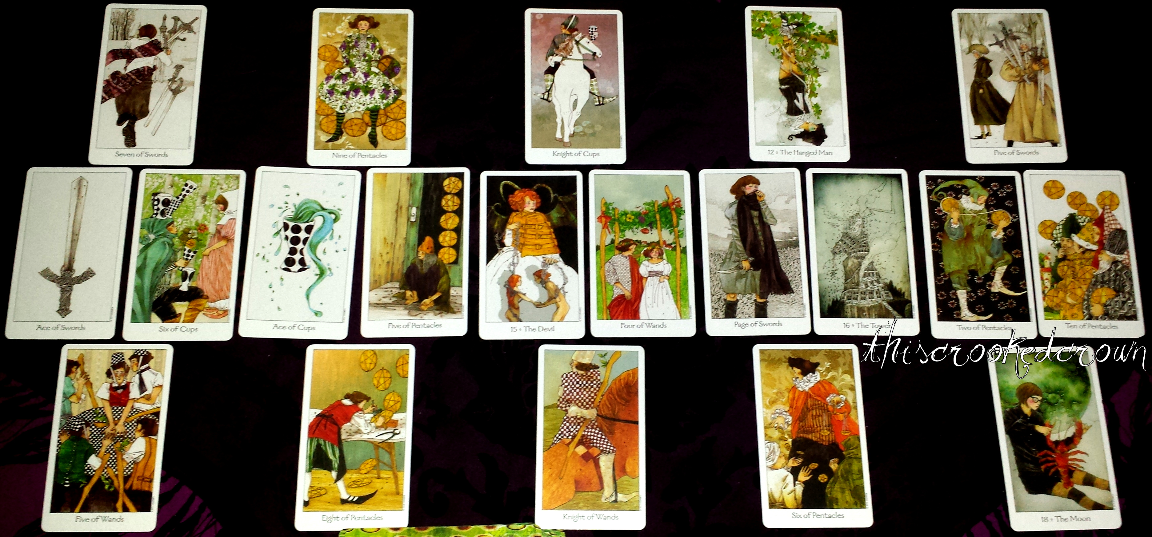 The Seasons Spread - To see the next year's future or to review the  previous year in a 20 tarot oracle card spread by professional psychic from  This