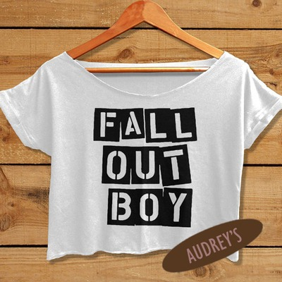 27769032fa061 Fall out boy crop top tshirt women crop tee shirt white black fob02tft