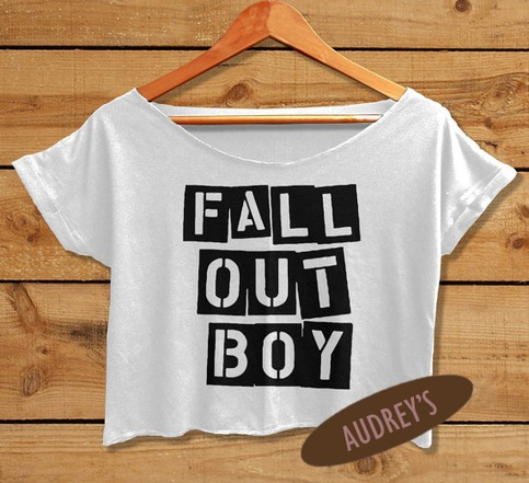 Fall Out Boy Crop Top Tshirt Women Crop Tee Shirt White