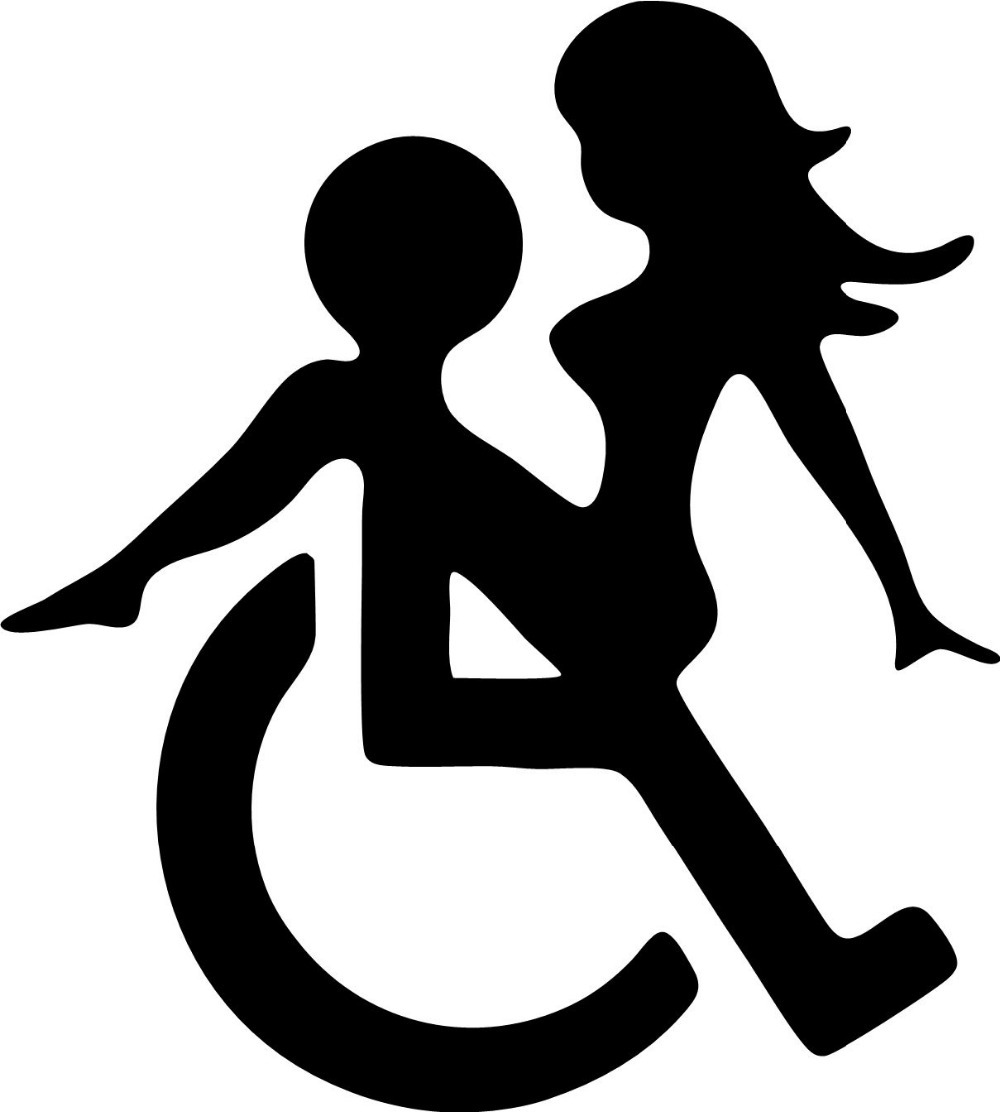Wheelchair sex funny decals font b stickers b font suitable for cars font b bikes b