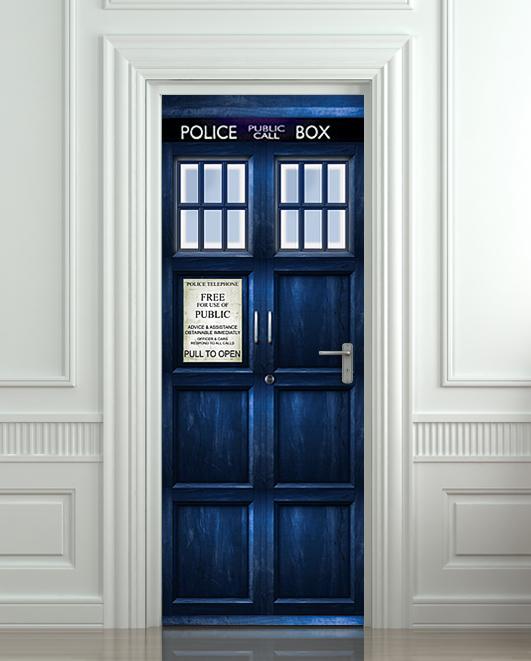 Door STICKER Police Box Poster On Storenvy