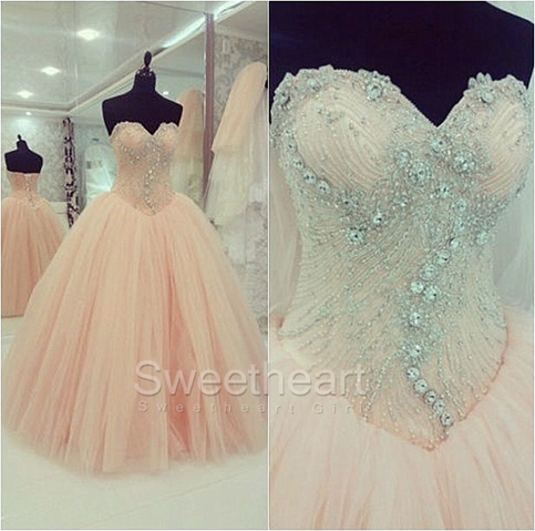 Sweetheart Girl Amazing Ball Gown Tulle Sweetheart Prom