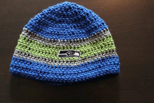 Seattle Seahawks Inspired Crochet Hat Pearl West Online Store