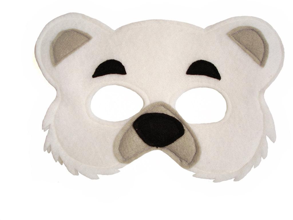 Childrens POLAR Bear Felt Animal Mask