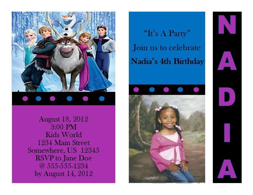 Frozen Birthday Invitation 2 From Southern Desktop Publishing