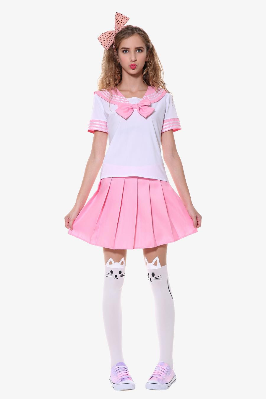 J-Fashion Sailor Seifuku School Uniformone Pair Of Tight -9800