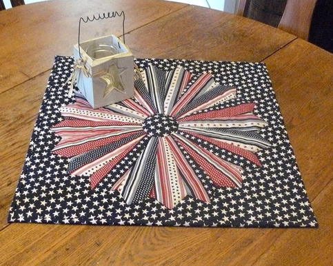 Brenda S Fabric Goodies Star And Stripes Quilted Table