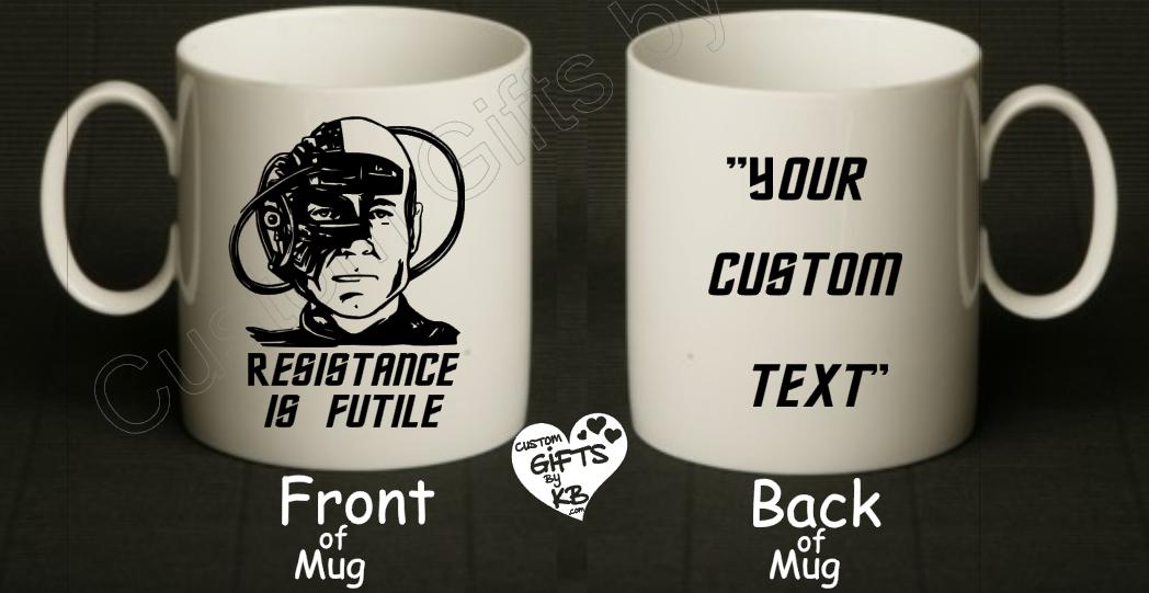 95d0e9f4f37 Borg Mug, Resistance is Futile Mug, Star Trek inspired Mug, Coffee Mug, ...